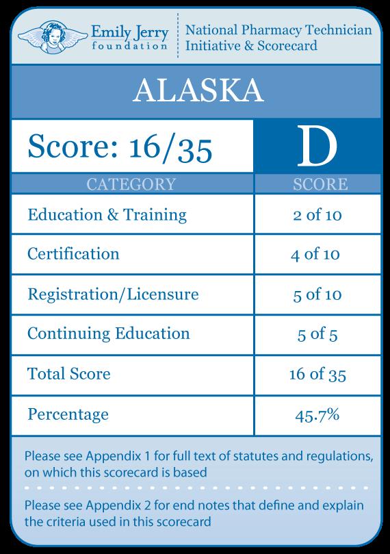 alaska scorecard – emily jerry foundation